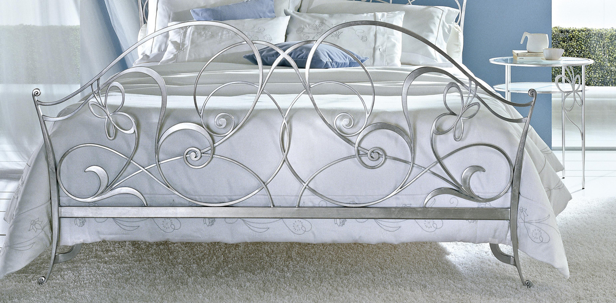 50 Kids Wrought Iron Bed Wrought Iron Queen Headboard: Ciacci Papillon Bed In Silver Leaf Uber Cool Designer