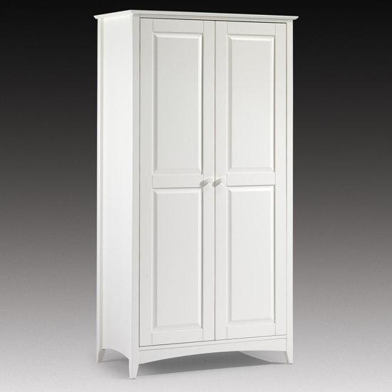 Cheap Wardrobe In White Lacquer 2 Door