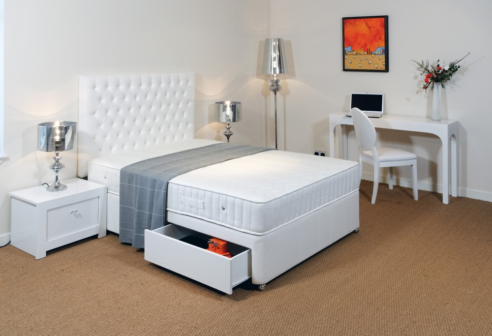 Soft emperor divan bed 6 feet 6 inches robinsons beds for Divan bed feet