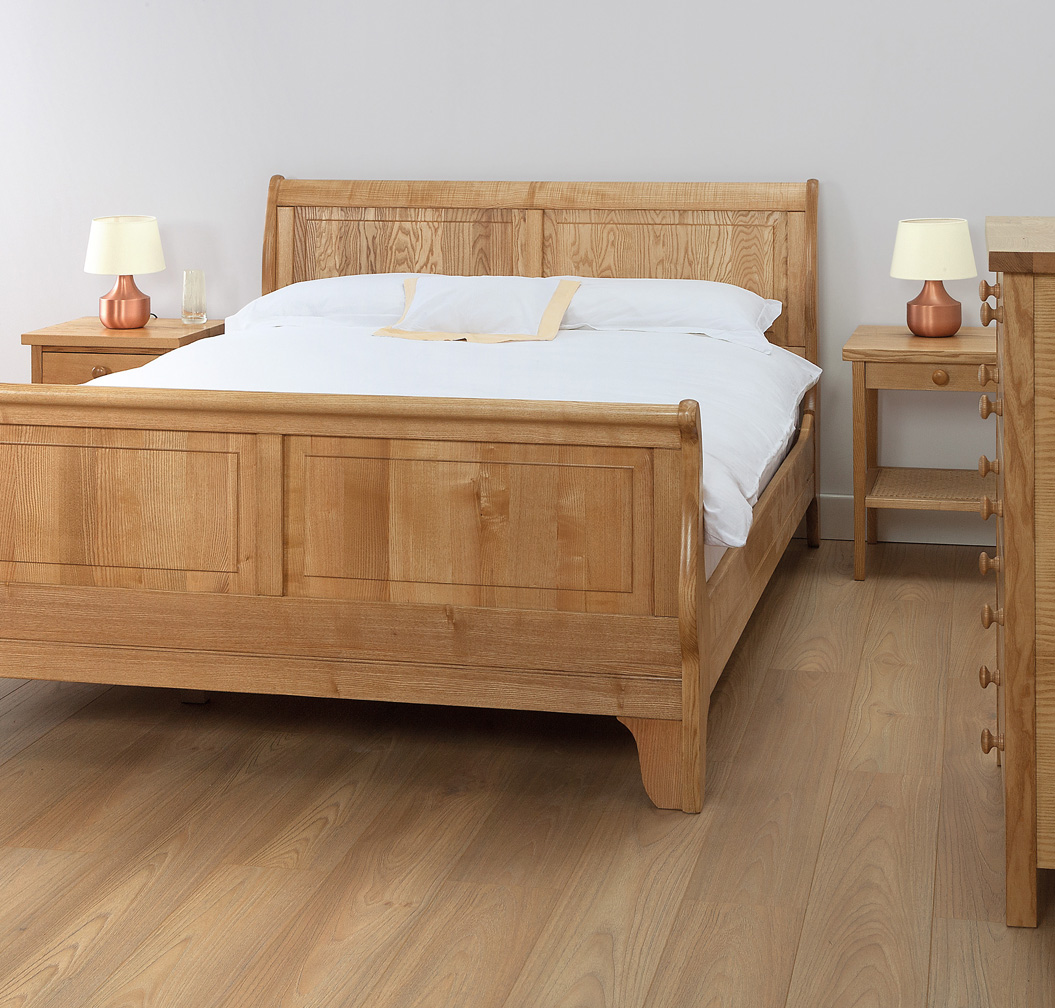 - Cotswold Caners Solid Wood Sleigh Bed Robinsons Beds