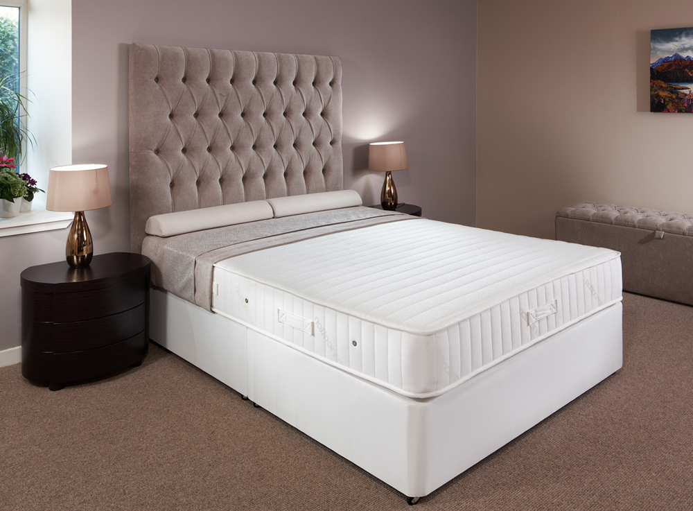 Orthopaedic double size divan with extra firm mattress robinsons beds Divan double bed with mattress