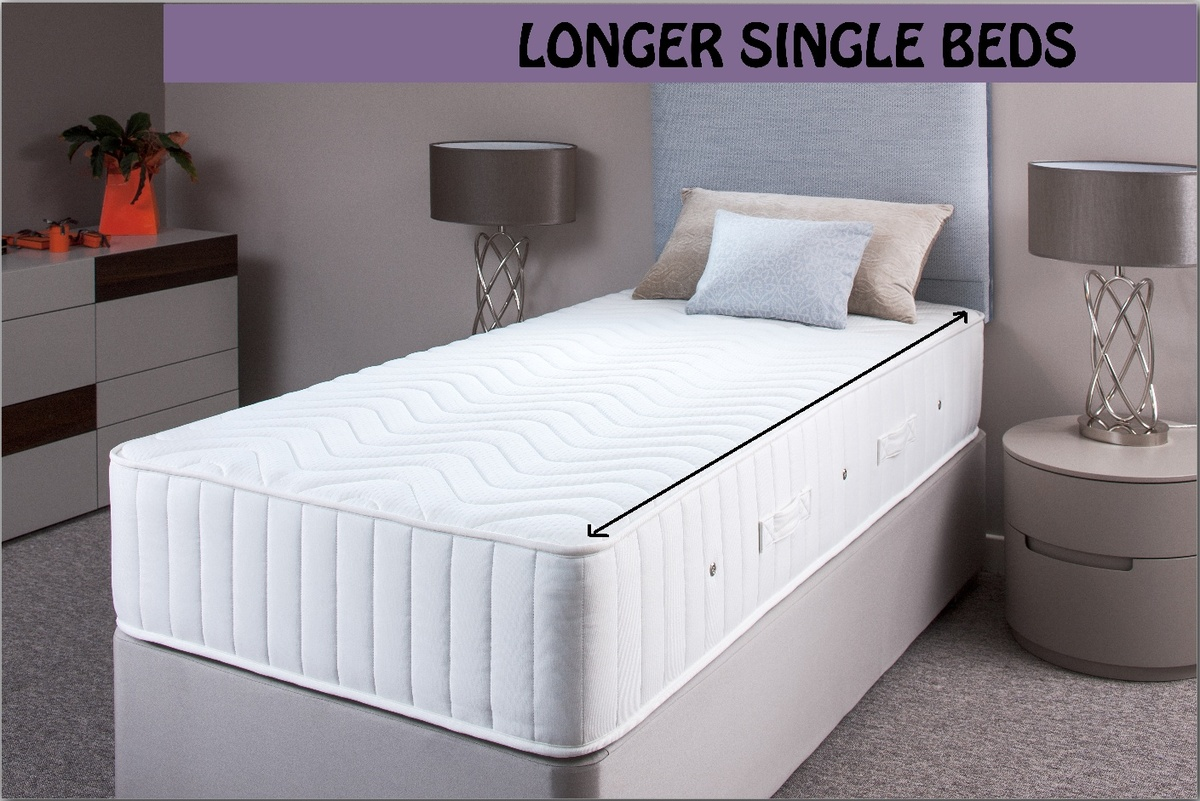 Long Single Beds and Mattress | Custom Made Sizes ...