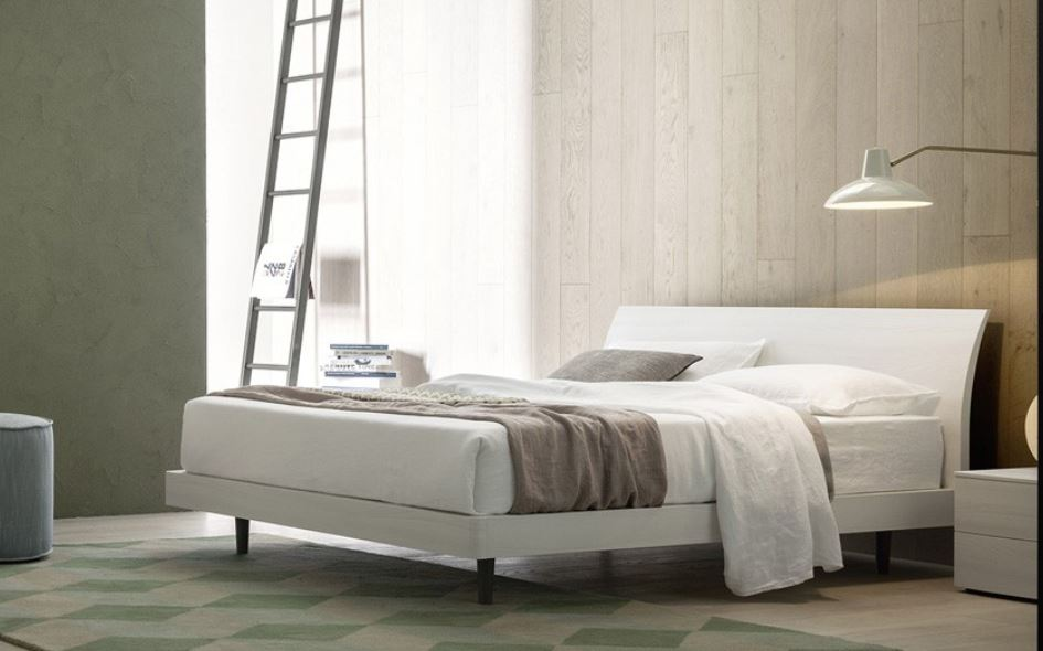 Bend Bed With Curved Headboard White Bed Frame