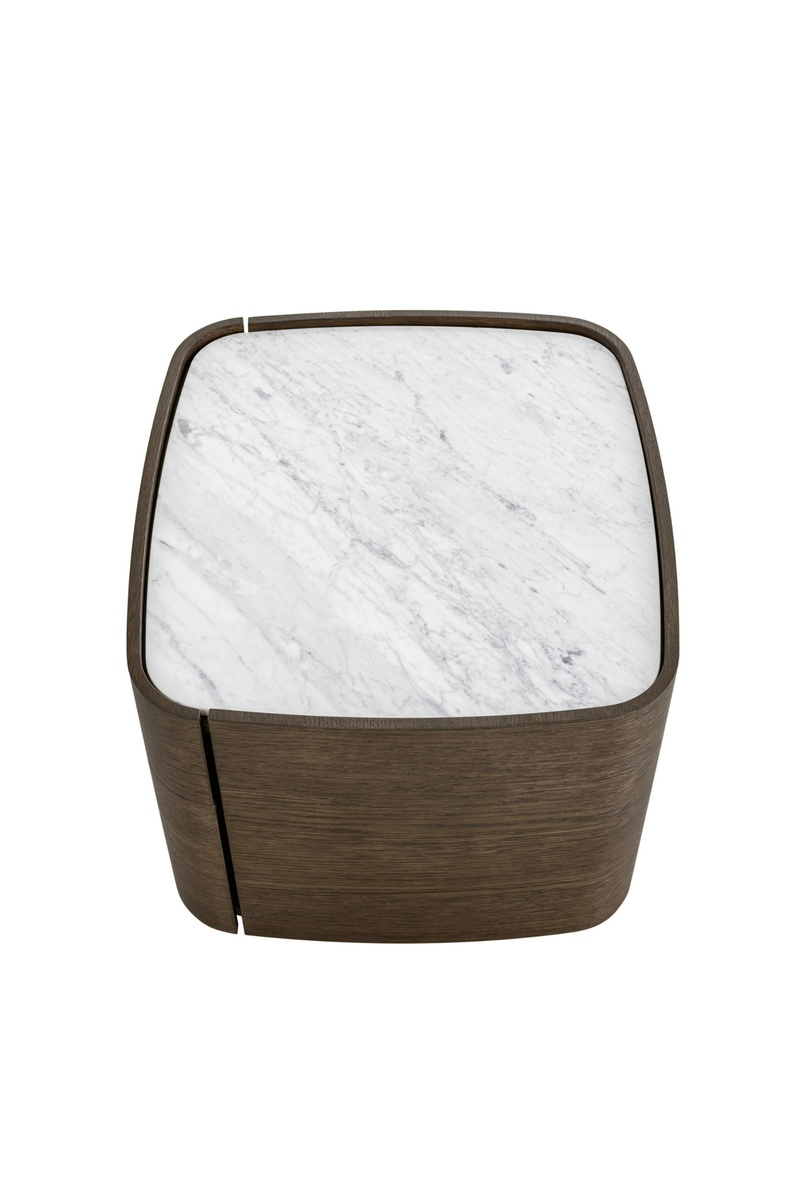 Novamobili Norman Bedside Table Marble Top Robinsons Beds