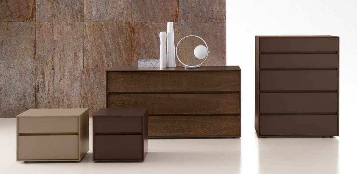 Contemporary bedroom furniture presotto box chests of for Bedroom furniture uk