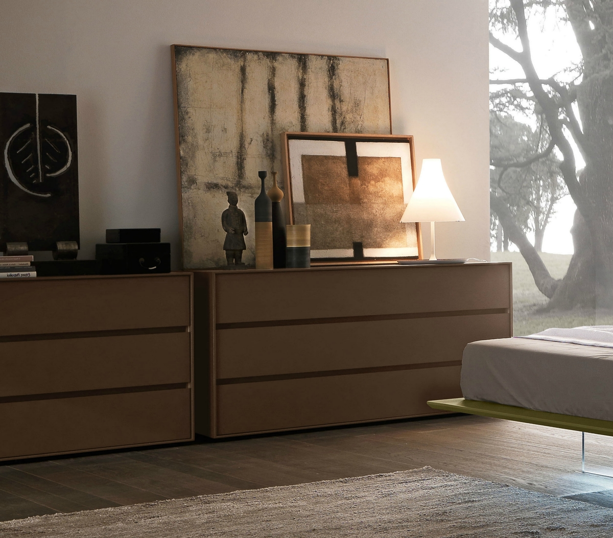 Contemporary Bedroom Furniture Presotto Box Chests Of