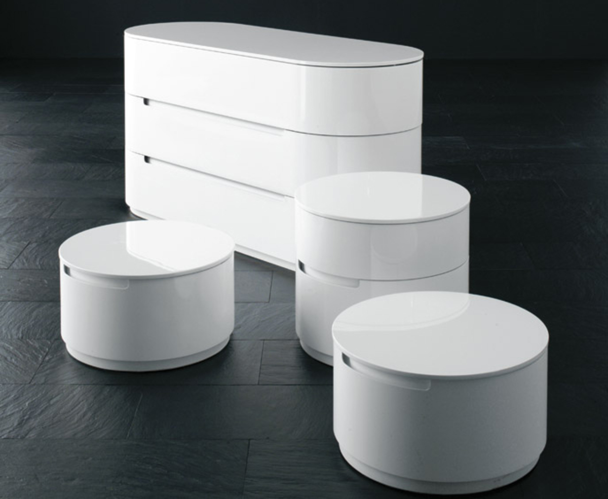 Circular Bedside Cabinet Finest Presotto Globo Robinsons