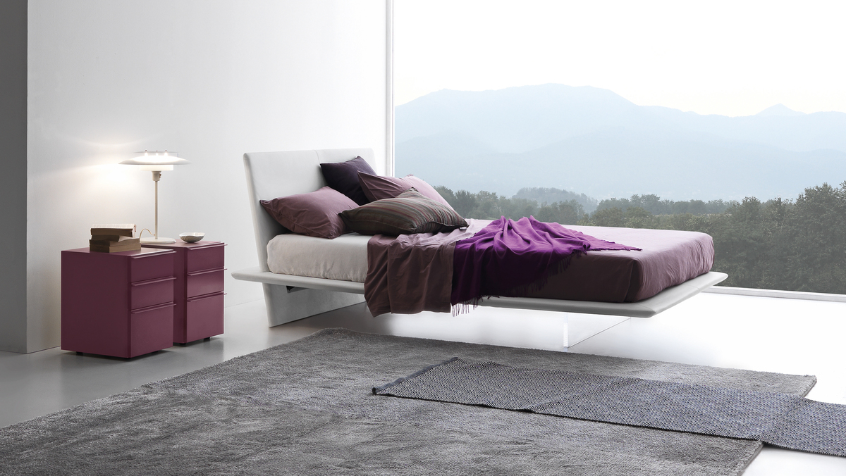 Presotto Plana Floating Bed Modern Red Bed Frames Robinsons Beds