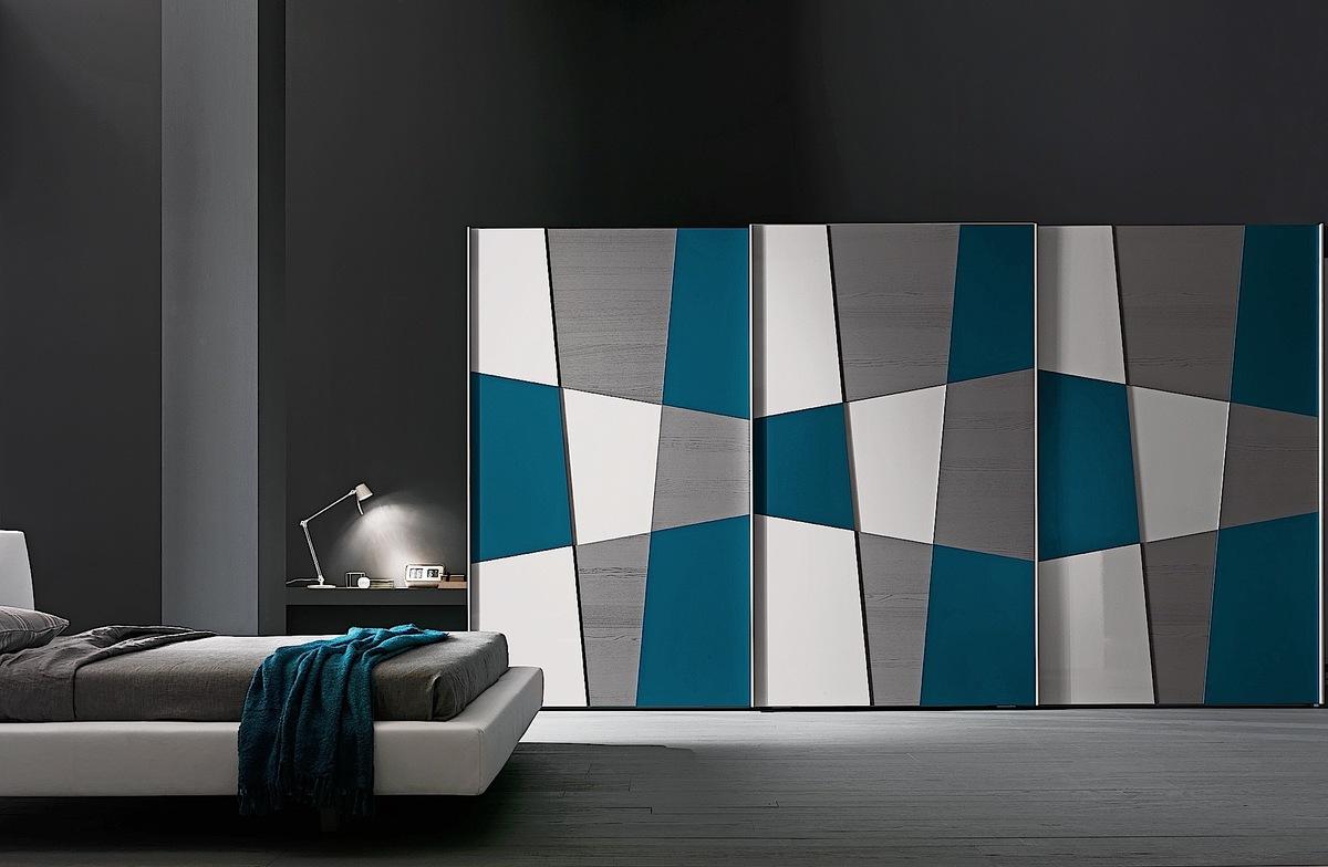 Presotto Shape Geometric Design Wardrobe Multi Coloured