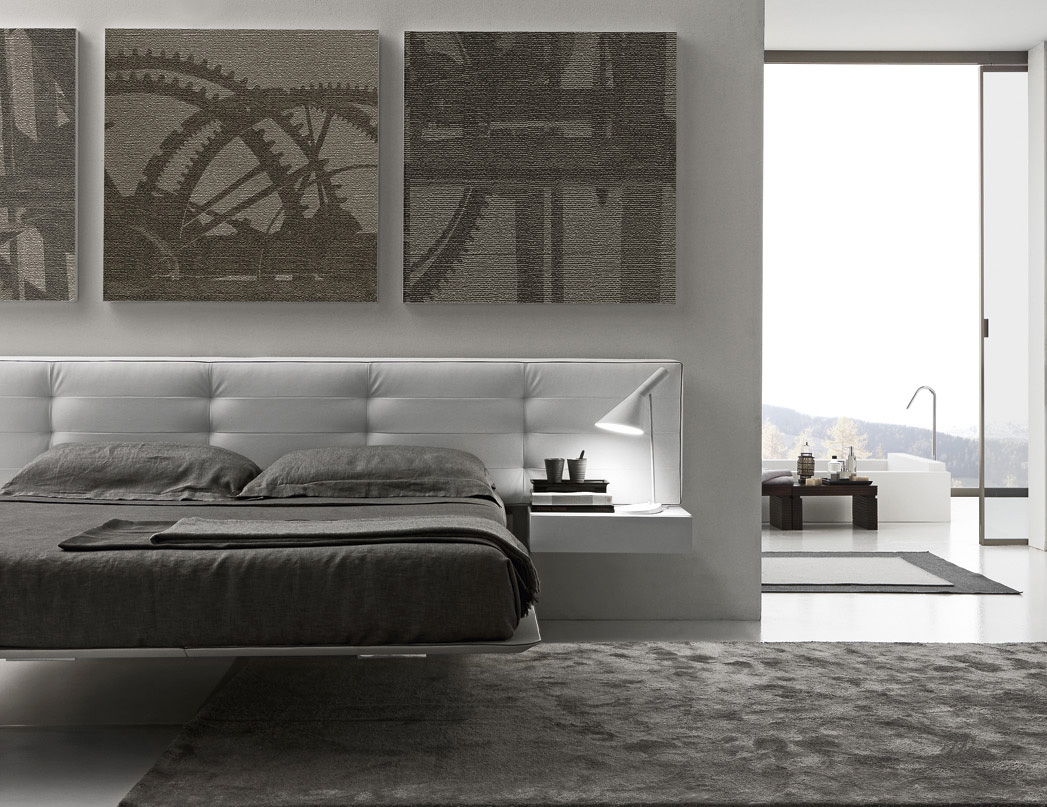 Presotto Wing Suspended Bed Floating Look Contemporary