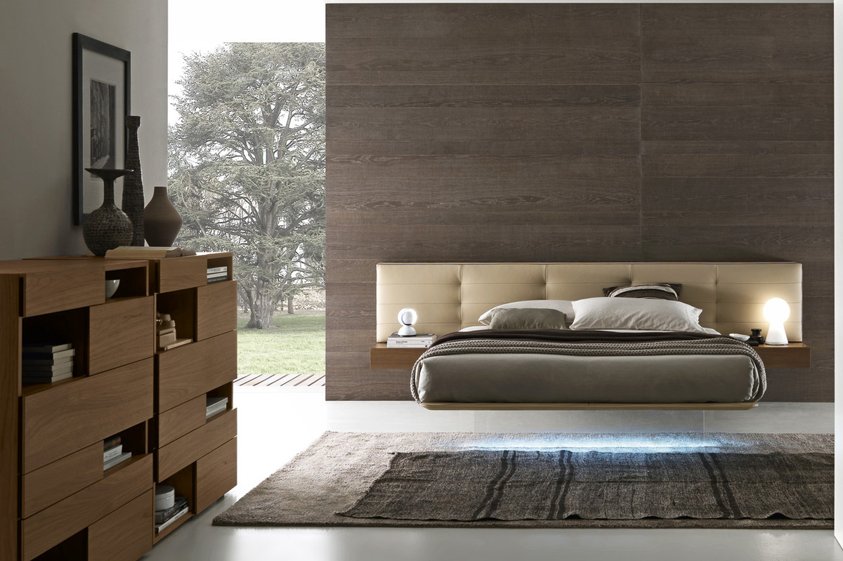 Presotto wing suspended bed floating look contemporary italian bed robinsons beds