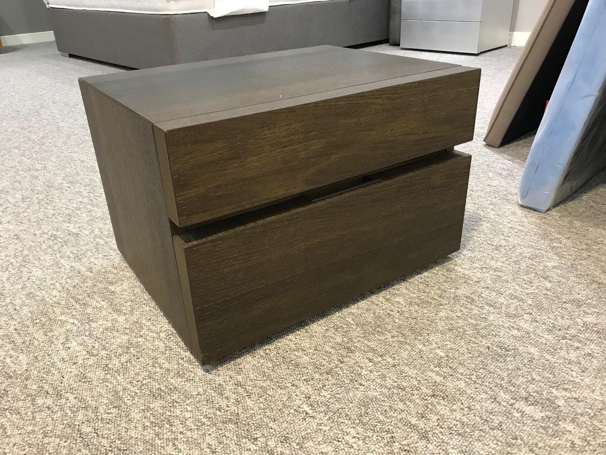 Dark Oak Wood Bedside Cabinet | Sale now on | Robinsons Beds