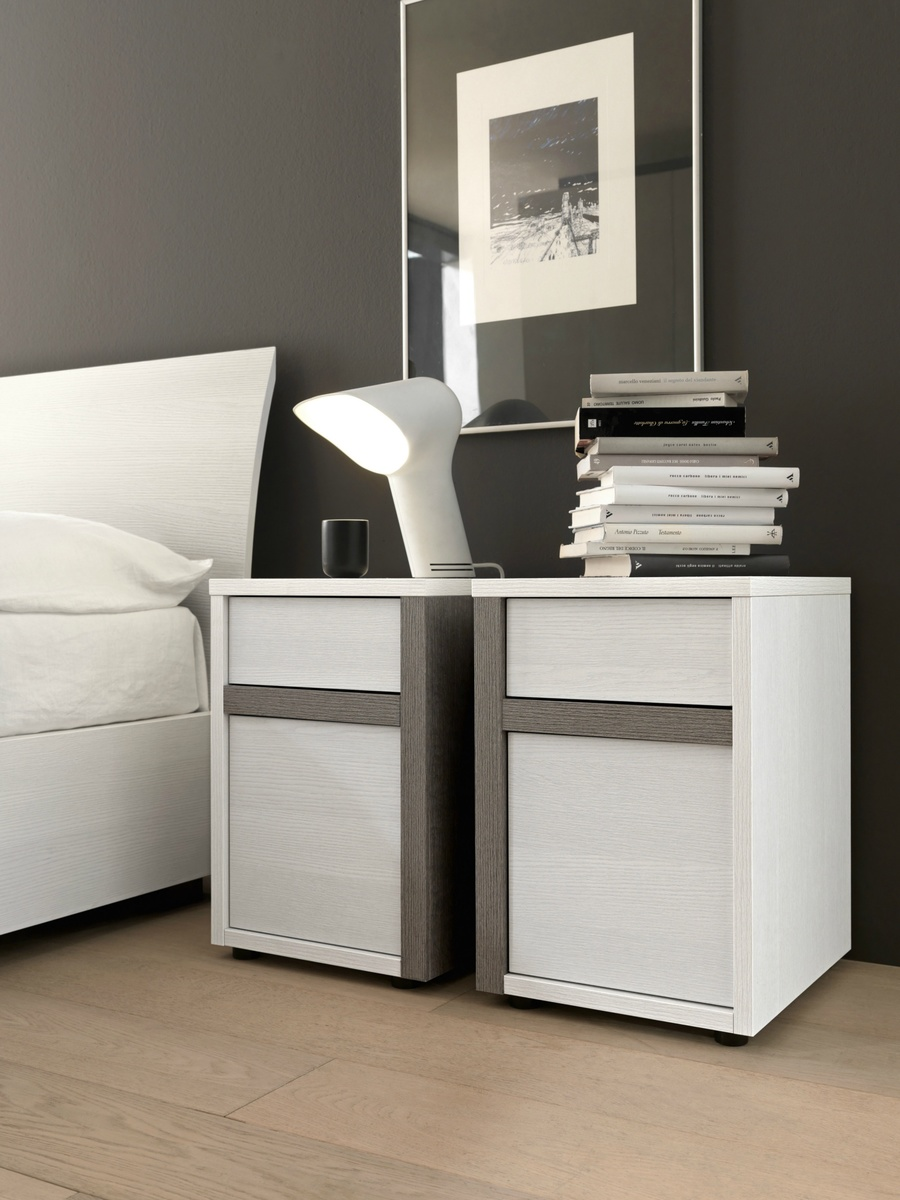 Slim Bedside Tables: SMA Mobili Slim Bedside Cabinet