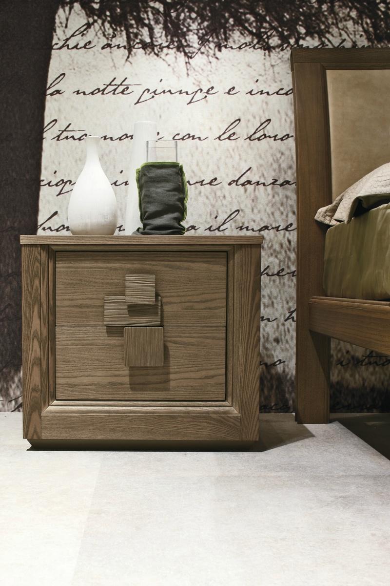 Tomasella Medea Modern Bedside Cabinet 2 Drawer Table
