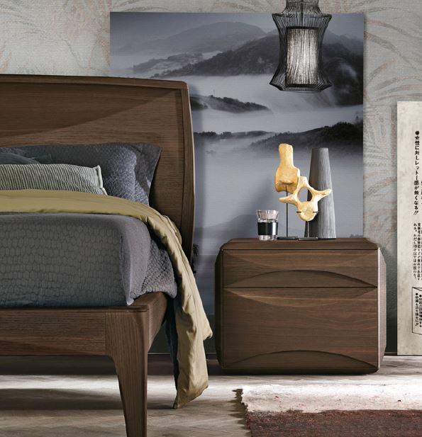 2d722f7ceb95 Modern walnut bedside cabinet