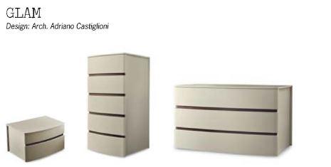 Zanette Glam Italian Luxury Bedside Cabinet Two Tone