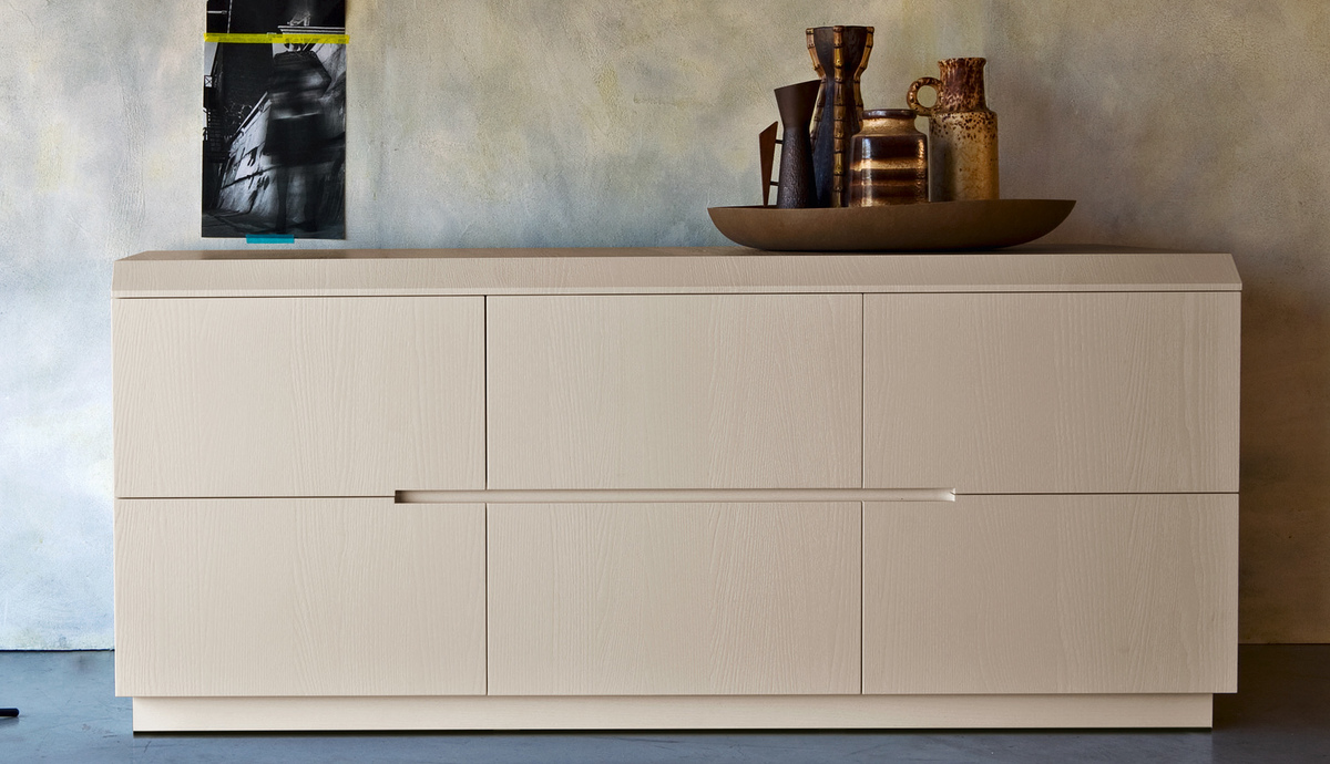 Zanette Morfeo Italian wide chest of drawers 6 drawer ...